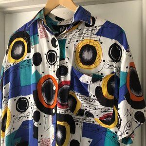 Vintage 80's Multi-colored Over-sized Shirt